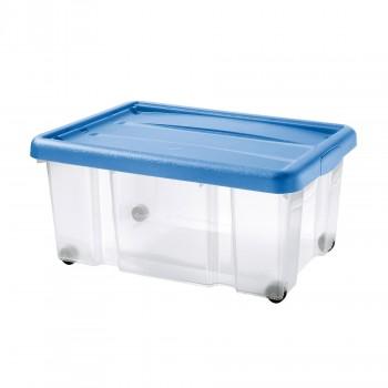 Tontarelli Shop Puzzle Box Con Coperchio A Scatto E Ruote 80 L